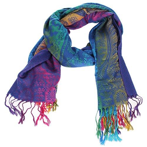 Y-BOA Foulard Étole Châle Doux Frange Écharpe Pashmina Multicolore Ethnique Modèle 2#