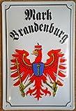 Blechschild Mark Brandenburg Adler Wappen Schild Werbung