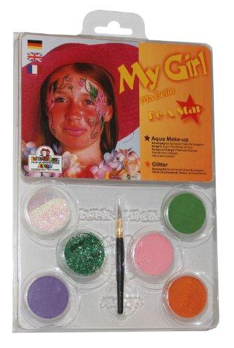 - Schminkset My Girl, Pinsel und Anleitung, 4 Farben und 2 Glitzer (Kreative Halloween Kostüme Für Mädchen)