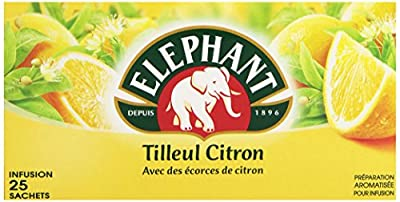 Elephant Infusion Tilleul Citron 25 Sachets 35 g