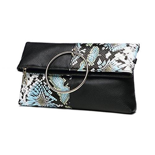 TaoMi Homw- Kupplungs-weibliche faltende Umschläge weibliche Handtaschen-Art- und Weisekurier-Beutel / mit Schultergurt, Handgelenkbügel #b