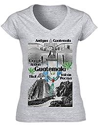 teesquare1st Guatemala Camiseta para Mujer de Algodon