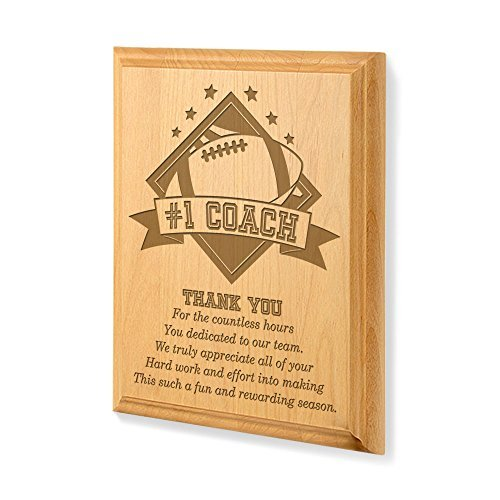 Kate Posh - #1 Football Coach Plaque and Award by Kate Posh -