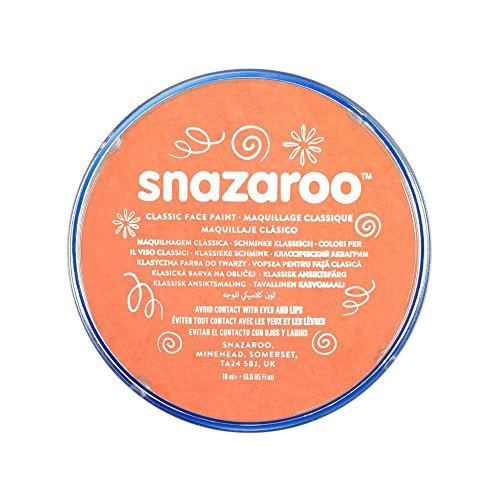 Snazaroo 1118551 Kinderschminke, hautfreundliche hypoallergene Gesichtschminke auf Wasserbasis, wasservermalbar, parabenfrei, aprikose, 18 ml Topf