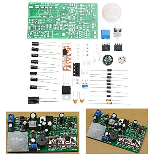 LaDicha DIY Pyroelectric Infrarot-Sensor Kits Anti-Diebstahl-Schaltung Elektronische Technologie-Trainings-Sets -