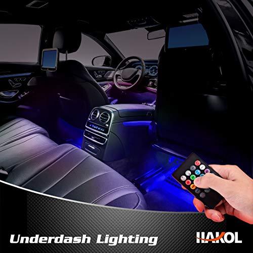 Le Più Recenti Luci LED da macchina | Kit Di Luci Con 7 Colori Per Veicoli | Strisce LED Che Cambiano Colore Con Telecomando | Di Facile Installazione E Funzione 'Sound Active' | 4 Pezz