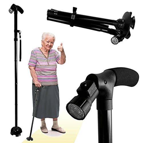 51CM6WZAi5L. SS500  - BeGrit Folding Cane Dependable Ajustable Height Lightweight Folding Walking Stick Portable Cane Balancing Walking Aid…