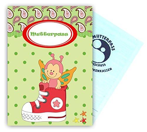 Mutterpass Schutzhülle mit Schmetterling