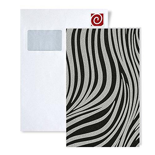 Tapeten MUSTER EDEM 1016-Serie | Fashion Designer Zebra-Streifen Tapete gestreiftes Struktur-Muster, S-1016-XX:S-1016-16 -