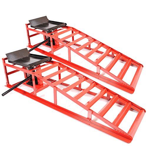 Hydraulische Auffahr-Rampe für Auto/Van/Allradautos, 2Tonnen, sehr robust,Werkstatt-Rampe zum Wagenheben, Paar