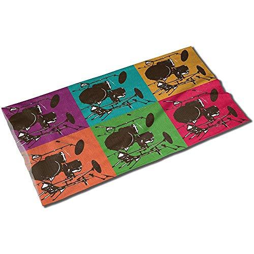 Annays Kopftuch Retro Vintage Drum Kits Head Wrap Maske Unisex Schweißband Schal Outdoor Sport Stirnbänder Bandana Neck Gaiter Headwear