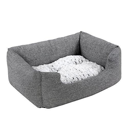 Songmics Hundebetten innenkissen Beidseitig Verwendbar mit unten einen Anti-Rutschboden 80 x 60 x 26 cm PGW26G