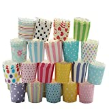 Butterme 50 Pcs Elegance Baking Cups Cupcake Wrapper Liners / Muffin Cups in Assorted Colors and Styles for Kitchen Baking Dessert DIY Wedding Party Birthday