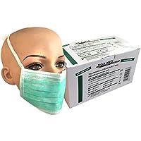 Einmal Mundschutz OP Masken 3-lagig grün 50 Stück mit Bändern zum Binden Einmal OP Masken Profi Gesichtsmasken... preisvergleich bei billige-tabletten.eu