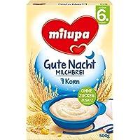 Milupa Gute Nacht Milchbrei 7-Korn ab dem 6. Monat, 500g