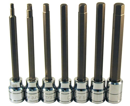 Sae Hex Bit (ATD Tools 13786 Extra Long 7-Piece SAE Hex Bit Socket Set by ATD Tools)