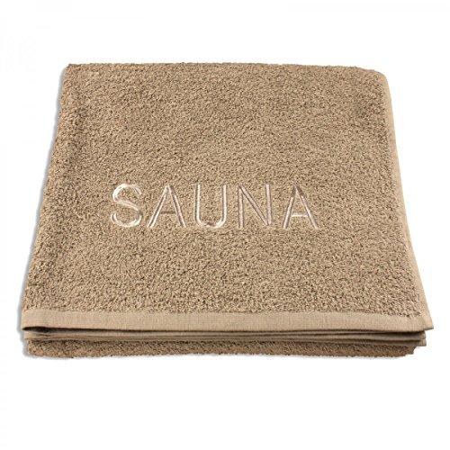 XXL Sauna Handtuch 70 x 200 cm :: Saunatuch Badetuch Strandtuch aus 100% Baumwolle - Qualität 500 g/m² - Taupe