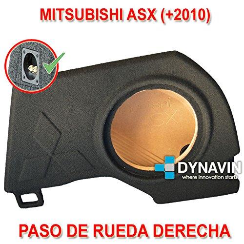 MITSUBISHI ASX (+2010). RUEDA DERECHA - CAJA ACUSTICA PARA SUBWOOFER ESPECÍFICA PARA HUECO EN EL MALETERO