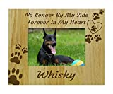 bois personnalisé chien gravé cadre photo memorial - plus à mes côtés, pour toujours dans mon cœur - la perte d'un cadeau animal -4 x 6 pouces horizontale