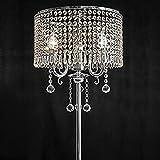 Irgendeine Heimatlampe K9 Kristall-Stehlampe, moderne romantische Fernbedienung führte Bedside Study Wohnzimmer Schlafzimmer Boden Licht ( ausgabe : Fernbedienungsschalter )
