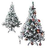 """Künstlicher Weihnachtsbaum """"Snow"""" in 2 verschiedenen Höhen 150cm/180cm in grün mit Kunstschnee beflockt (180cm / 525 Zweige beflockt)"""