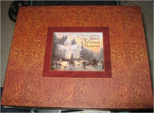 Our Family Christmas Memories: Thomas Kinkade Painter of Light, 11 1/4x 91/8, Deluxe Gift Box, Padded Cover, Gold Foil Stamping, Full Color Interior (1999-11-03) (Memories Kinkade Christmas Thomas)