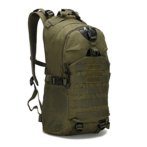 Trekoo 35L Rucksack Erwachsene Taktischer Rucksack Trekkingrucksacke Reiserucksack Outdoor Wanderrucksacke (Armee grün, 35L) (Armee-erwachsene Schuhe)