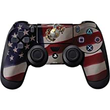 Elton PS4 Controller Designer 3M Skin For Sony PlayStation 4 DualShock Wireless Controller - Silver Marine American Flag, Skin For One Controller Only