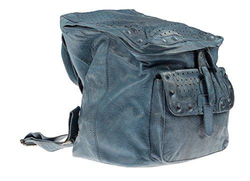 Greenburry Stainwashed Sac à dos cuir 25 cm Blue