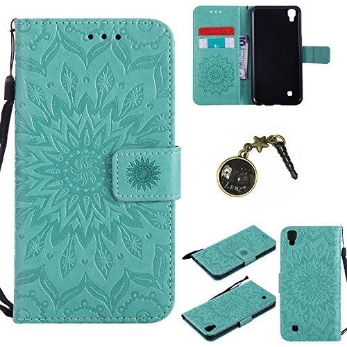 Preisvergleich Produktbild PU Silikon Schutzhülle Handyhülle Painted pc case cover hülle Handy-Fall-Haut Shell Abdeckungen für LG X Power (13,5 cm (5,3 Zoll) hülle +Staubstecker (7FF)