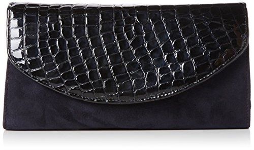 Van Dal Damen Martina Tasche, Black (Black Croc/Suede) (Handtasche Croc Clutch)