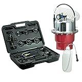 PROFI Druckluft-Bremsenentlüfter+Adapter-Satz Bremsen-Entlüftungsgerät Werkzeug