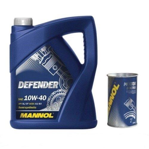 5 Liter Defender 10W40 Motoröl 300ml Motordoctor Additiv Motorschutz für konstanten Öldruck