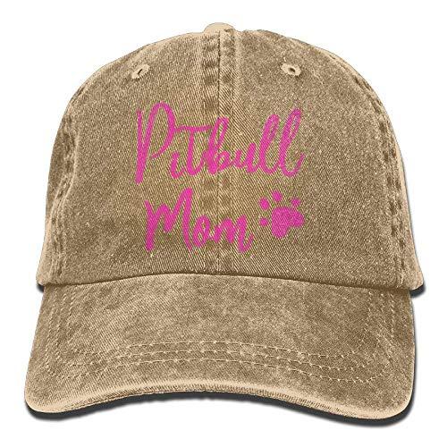 6da788f54f5 Sports Denim Cap Pitbull Mom Dog Men Women Snapback Caps Polo Style Low  Profile