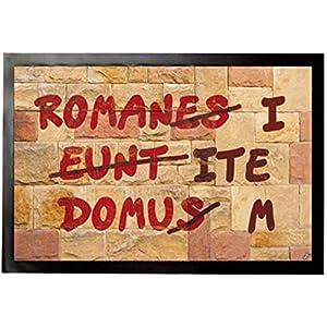 1art1 92081 Das Leben des Brian - Römische Mauer, Romani ITE Domum Fußmatte Türmatte 60 x 40 cm