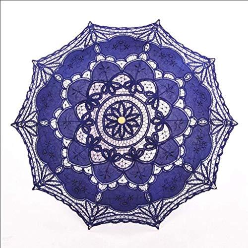 BJYG Regenschirm hochzeitsspitze Retro Braut kostüm Handwerk Spitze dekorative Foto niedlich Spitze Sonne (Farbe: c)
