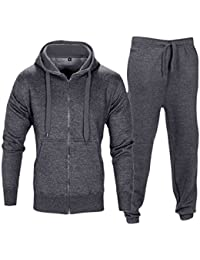 Love My Fashions Mens Tracksuit Set New Contrast Cord Fleece Hoodie Top  Bottoms Jogging Zip Joggers 62aaea5bdf11