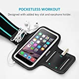 iPhone 6s Armband, Anker Sport Armband for iPhone 6 / 6s (4.7 inch) for Sports, Running, Jogging, Walking, Hiking, Workout and Exercise, Sweat-Free High-Quality Neoprene with Headphone and Key Slots and 2 Extra Cuttable Velcro Strips Bild 1
