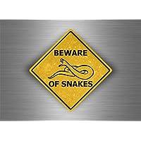 Akacha Sticker Laptop Macbook Sign Beware Attention Snake Snake
