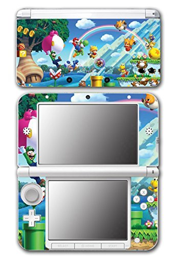 New Super Mario Bros 2 3D Land World Luigi Goomba Video Game Vinyl Decal Skin Sticker Cover for Original Nintendo 3DS XL System by Vinyl Skin Designs