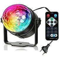 Luces de Discoteca,VOOKI LED Bola de Discoteca Luces,7 Colores RGB para Disco Fiesta, Bar y Escenario etc.