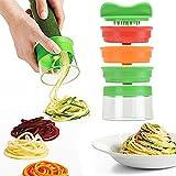 Pretop 3Bladen Spiraalsnijder set, gemüsespaghetti aardappel, courgettes, spargelschäler, gurkenschneider, fruit Spiraalsnijder