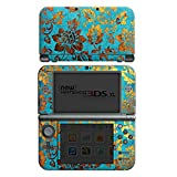 Nintendo New 3DS XL Case Skin Sticker aus Vinyl-Folie Aufkleber Blumen Muster Gold
