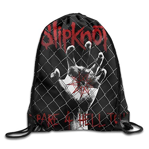 DHNKW MDSHOP Slipknot New Wave of American Heavy Metal Drawstring Backpack Sack (New Wave Halloween)