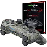 PS3 Urban Camo TrueFire-Fusion Rapid Fire modded Controller with DROP SHOT, QUICKSCOPE, JITTER, AUTO AIM; COD MW3, Black Ops by Console Customs