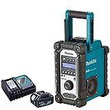 Makita DMR109 10.8v-18v LXT/CXT LI-ion Job Site Radio With BL1850 5.0Ah Battery & DC18RC Charger