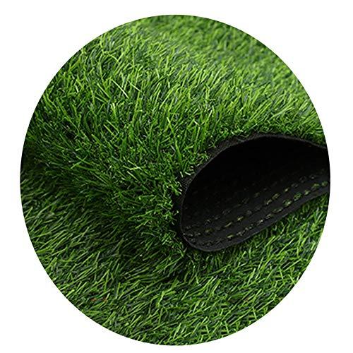 YNGJUEN Kunstrasenteppich Grashöhe 3cm Im Freien Gefälschte Grasmatte Grün Hochdichter Rasengarten Synthetischer Rasen Haustier Hundematte (Size : 2x4m)