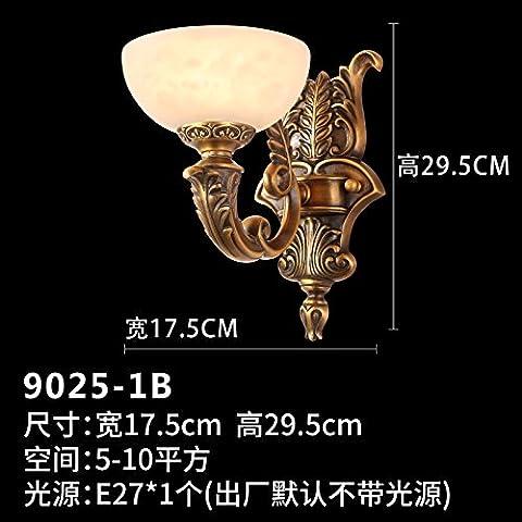 XiangMing High-end di lusso marmo lampada da parete Cu tutte in stile Europeo di atmosfera (Oro 10 Stone)