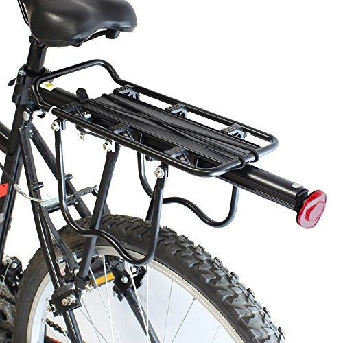 PedalPro Einstellbarer Fahrrad-Gepäckträger hinten, mit Reflektor