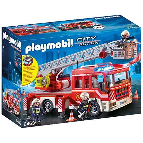 Playmobil Camion de Pompiers avec échelle pivotante